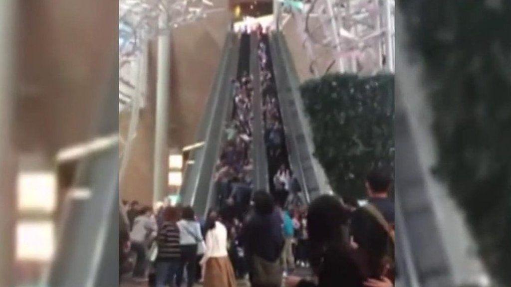 95320888 p04y2954 - Hong Kong escalator malfunction: Two men arrested