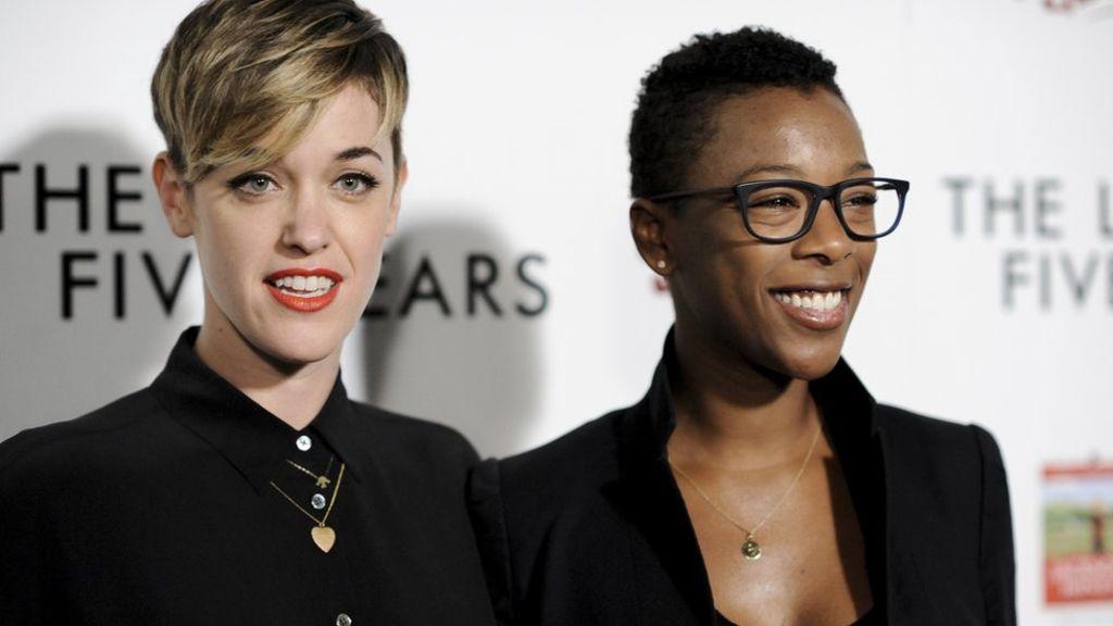 95329028 morelli wiley ap - Orange is the New Black: Samira Wiley and Lauren Morelli tie the knot