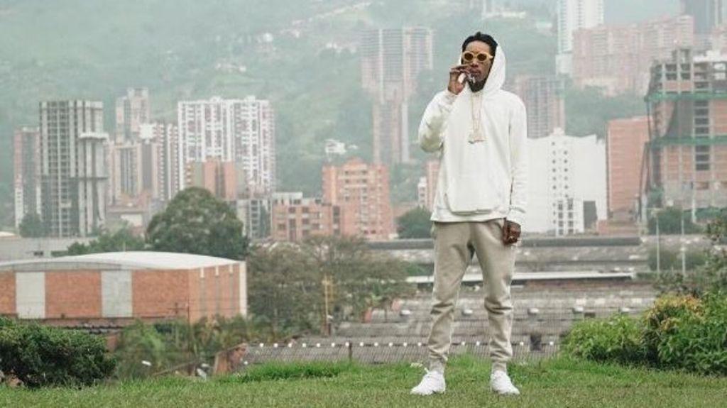 95329856 wizkhalifa - US rapper Wiz Khalifa in Colombia drug lord row