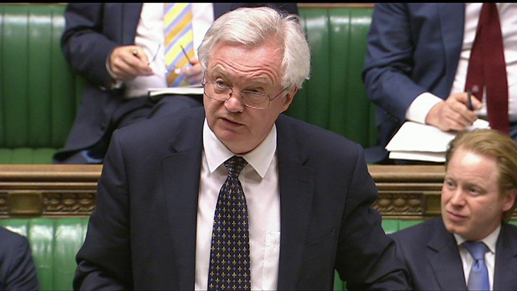 95384112 p04yhcvr - David Davis sets out Great Repeal Bill's aims