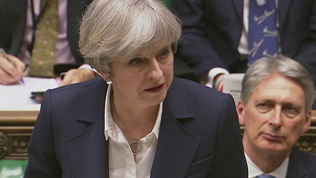 95389364 p04ygyqv - In full: Theresa May triggers Article 50