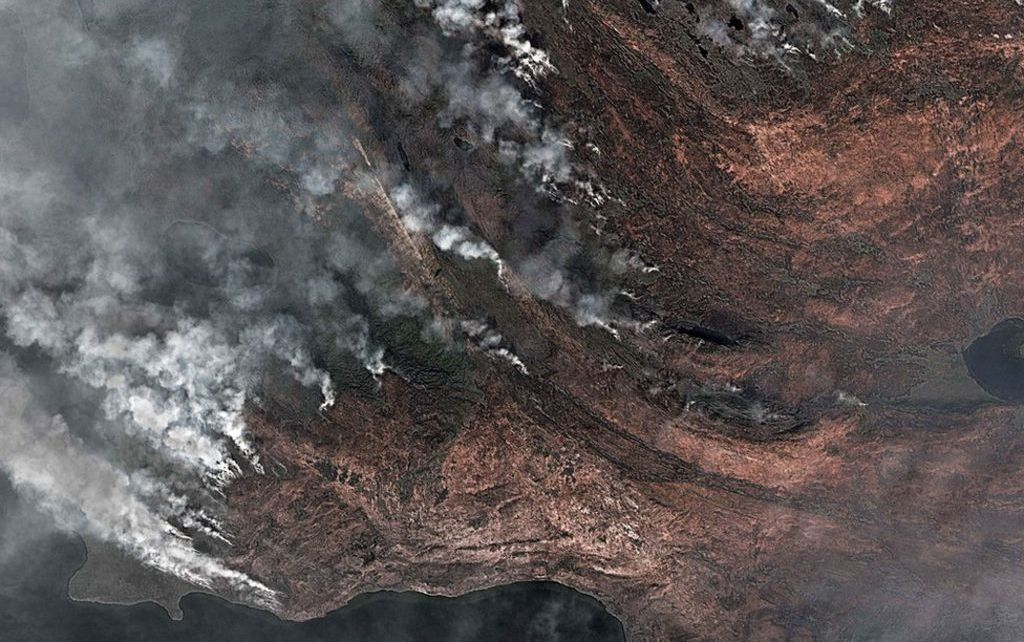 97272663 fire1 - 'Unusual' Greenland wildfires linked to peat