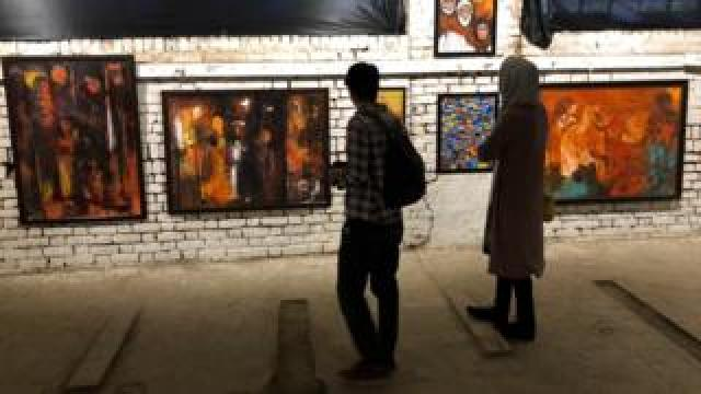 paintings in Kashmir exhibition