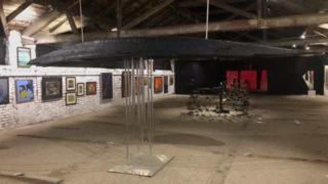 art installation in Kashmir