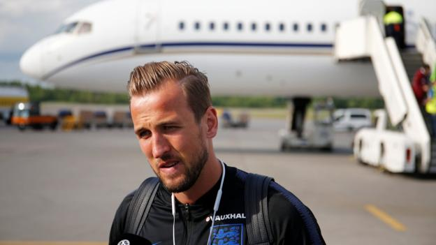 101990373 kane reu - World Cup 2018: England arrive in Russia for tournament