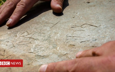 102026428 3tintagelstonedetail - Rare ancient writing found on medieval Cornish stone