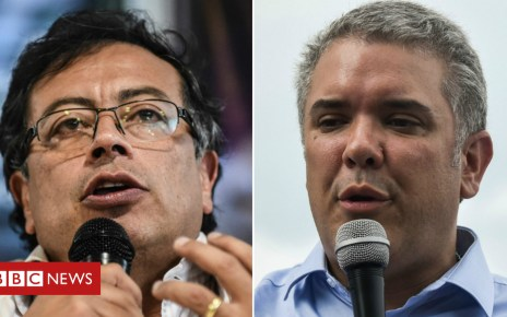 102033970 petro duque compo - Colombia election: Polls open as voters choose between extremes