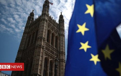 102083736 euflagukparl getty - Brexit deal: 'Meaningful vote' battle to resume in Lords