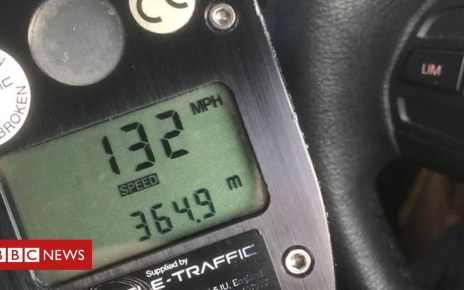 102157818 capture - 'Drink-driver' clocked at 132mph near Bedford