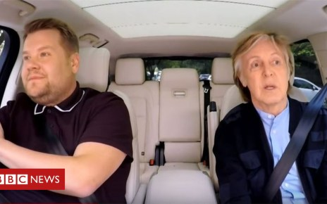 102160454 jamescorden - James Corden tears up at Paul McCartney's carpool karaoke