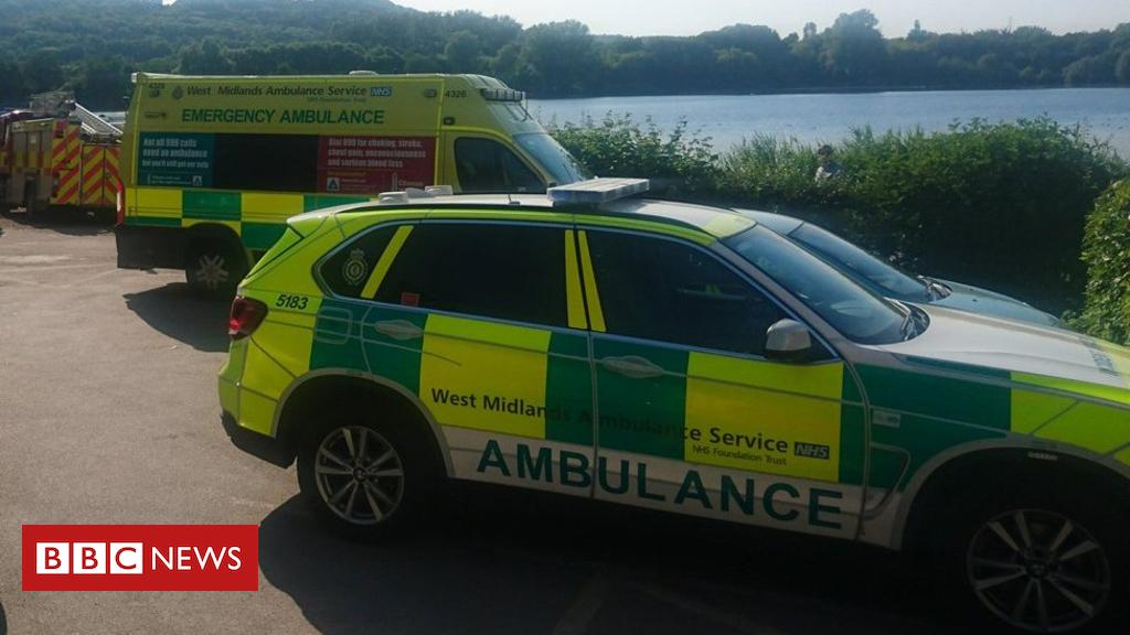 102197857 ambulanceatlake - Stoke-on-Trent lake searched for missing child