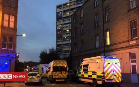 102205168 fireshellbryson - Residents treated for smoke inhalation after Leith tower block fire