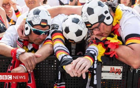 102236052 germanshi047776413 - Fans react to Germany's World Cup exit