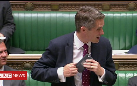 102316065 p06crmpd - Gavin Williamson interrupted by Siri during Commons statement