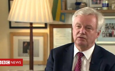 102442516 p06d81z9 - Ex-Brexit Secretary David Davis on his resignation
