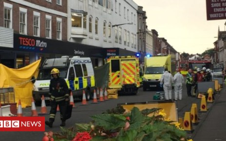 102500653 23 - Salisbury street cordoned off by police after man falls ill
