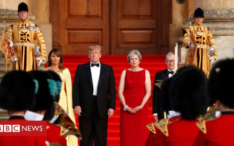 102505620 trumpsspomp reuters - Donald Trump: May presses case for US trade deal at dinner