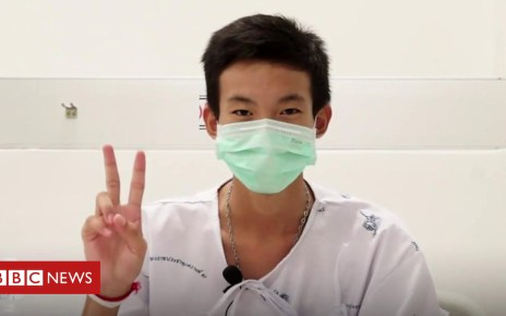 102530734 p06drvv2 - First video messages from rescued Thai boys