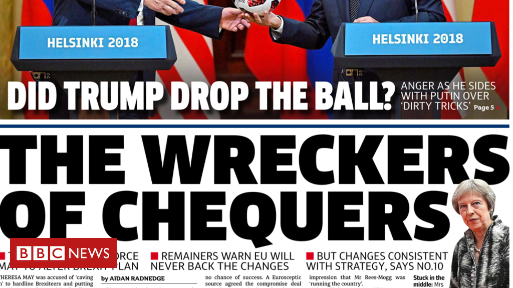 102556357 metro2 - Newspaper headlines: 'Wreckers of Chequers' and 'Putin's poodle'