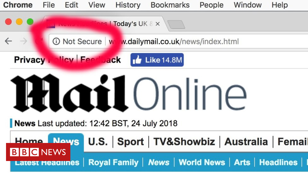 102671959 c7c37040 82d5 4afb bff2 8926e39c6830 - Chrome browser flags Daily Mail and other sites as 'not secure'