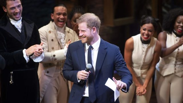 Prince Harry sings King George039s line at Hamilton charity show - Hamilton remix stars Barack Obama as George Washington