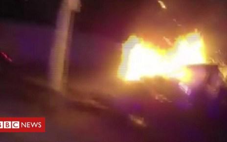102850561 p06grc9g - Police pull passenger from burning car in Atlanta
