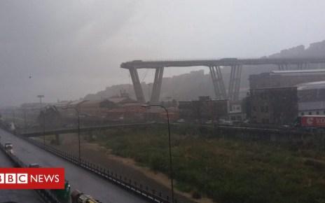 102965252 italy bridge collapse - Motorway bridge collapses in Genoa, Italy