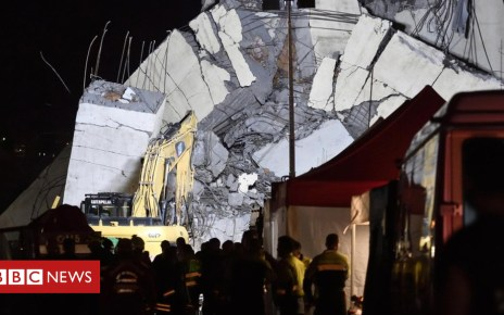 102973449 048672182 1 - Italy bridge: Bridge rescuers search into the night in Genoa