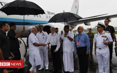 103066833 dk2e4ocuyaaitck 1 - Kerala floods: PM Modi inspects flood rescue effort