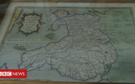 103081010 map - Exhibition for the man who created the first map of Wales