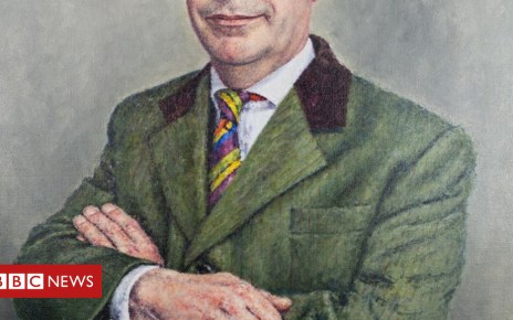 103219247 faragepaint - No takers for £25,000 portrait of Nigel Farage