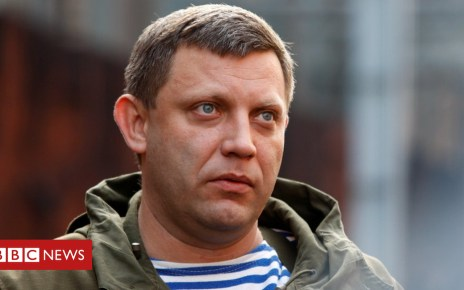103248328 zakreuters1mar17 - Ukraine crisis: Blast 'kills top Donetsk rebel Zakharchenko'