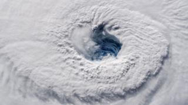 Satellite image of the eye of Hurricane Florence