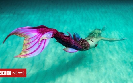 103225358 p06jrl78 - Mermaids compete in 'Merlympics' event