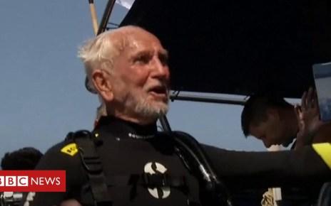 103263224 p06k39hz - Veteran, 95, breaks own scuba diving world record