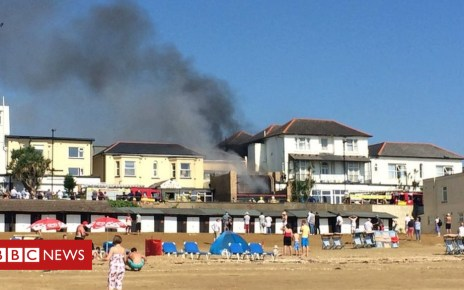103265866 firepic - Fire breaks out at Isle of Wight seafront hotels