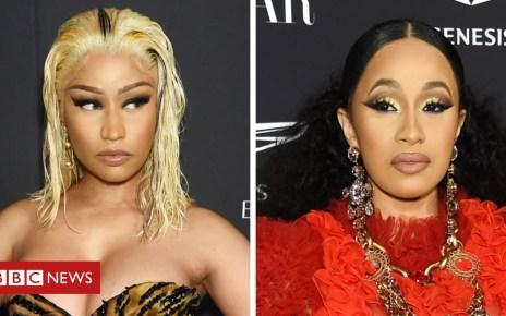 103344283 nickicardi - Cardi B and Nicki Minaj feud turns physical at New York party