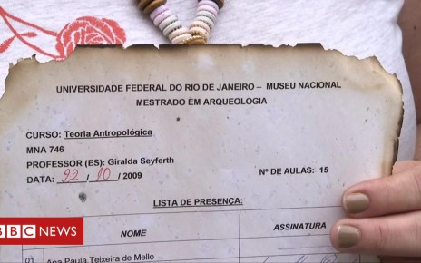 103358573 p06kqvv6 - Museum artefacts saved from Brazil fire