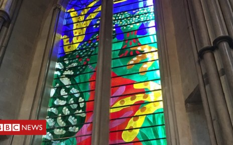 103582626 window - Hockney's stained glass window tribute to Queen revealed
