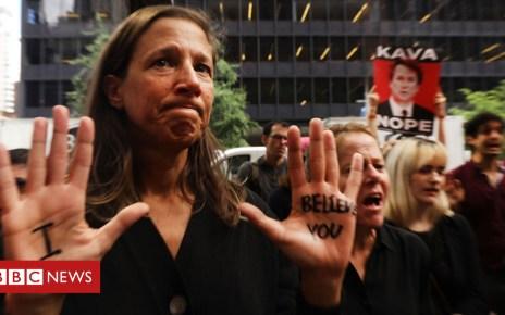 103608129 believe976getty - Kavanaugh hearing: #BelieveWomen v #BackBrett