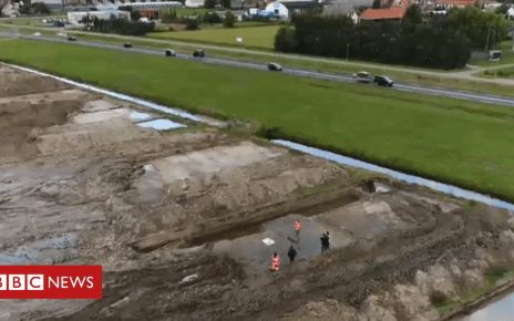 103613694 site - Archaeologists unearth Roman road in Netherlands