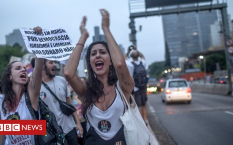 103632628 ebb06fc9 3f62 4a67 9cc1 d1bcbf876e4b - Jair Bolsonaro: Large protests against Brazil election front-runner