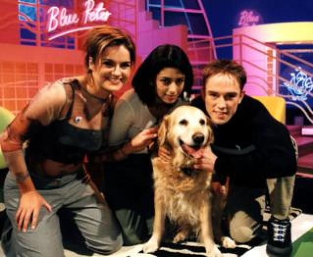 Bonnie the dog with Katy Hill, Konnie Huq, Simon Thomas