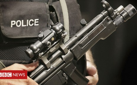 103770850 policegun - Young people anxious from terror coverage