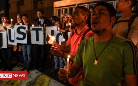 103775393 dbd0478e 65df 4af8 98ab 63b4dc45614a - Venezuela protests over jailed opposition lawmaker's death