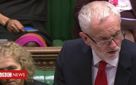 103965867 p06pkz1m - Jeremy Corbyn reaction to Theresa May Brexit statement