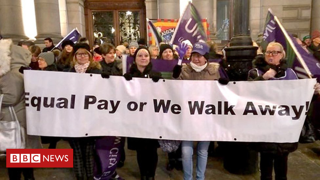99635554 equalpay - Schools and home care disrupted by Glasgow equal pay strike
