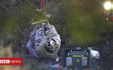 104143904 hi050329470 - Leicester City helicopter crash: Wreckage removal begins
