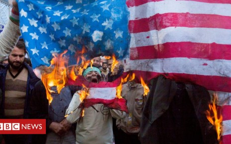 """104170383 gettyimages 1057227202 - US unleashes """"toughest ever"""" sanctions on Iran"""