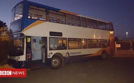 104395536 doubledecker - Three children arrested after double-decker bus joyride